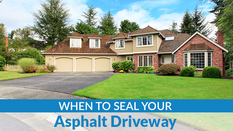 When to Seal Your Asphalt Driveway