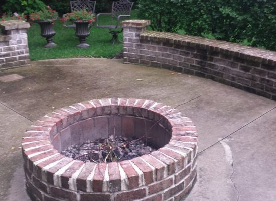 4 Patio with Fire Pit Before