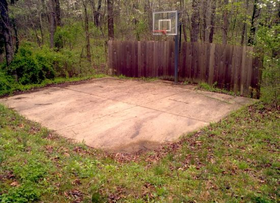 6 Concrete Basketball Court Before