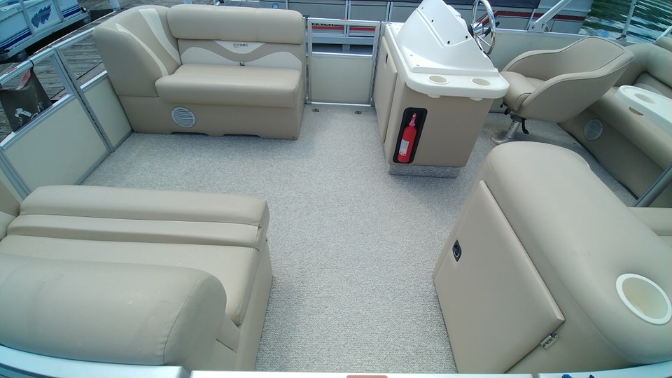 6 Pontoon Boat Carpet After