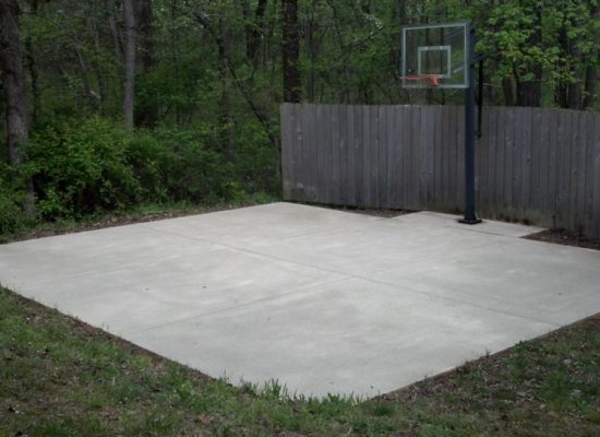 7 Concrete Basketball Court After